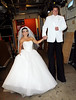 Non-Exclusive<br /> 2011 Oct 31 - Kelly Ripa and Nick Lachey dress up as Kim Kardashian and Kris Humphries on their wedding day outside of Regis and Kelly show in NYC. Photo Credit Jackson Lee