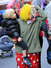 Non-Exclusive<br /> 2011 Nov 1 - Naomi Watt's wig gets pulled off by son Alexander Schreiber when they go trick-or-treating with Liev Schreiber and Samuel Kai Schreiber in NYC. Naomi is dressed as a clown, Liev as the grim reaper, Alexander as a ninja. Photo Credit Jackson Lee