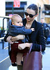 Non-Exclusive<br /> 2011 Nov 5 - Miranda Kerr and baby Flynn Bloom out and about in NYC. Photo Credit Jackson Lee