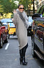Non-Exclusive<br /> 2011 Nov 6 - Jennifer Lopez waves to the paparazzi while out and about with a mystery male in NYC. Photo Credit Jackson Lee
