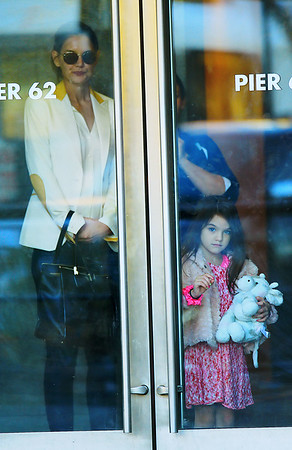 Non-Exclusive<br /> 2011 Nov 7 - Katie Holmes and Suri Cruise out and about in NYC after going to Chelsea Piers. Photo Credit Jackson Lee