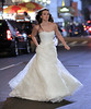 Non-Exclusive<br /> 2011 Nov 14 - Leighton Meester bolts out of a hotel in a wedding dress looking sad on the set of 'Gossip Girl' in NYC. Photo Credit Jackson Lee