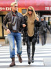 Non-Exclusive<br /> 2011 Nov 18 - Katie Price goes out for a walk with friends in frigid New York City. Photo Credit Jackson Lee