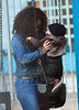 Non-Exclusive<br /> 2011 Dec 22 - Alicia Keys takes son Egypt to the swings at the playground as step-brother Kasseem Jr pedals a foot scooter in NYC. Photo Credit Jackson Lee