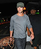 10 Aug 2009 - Chace Crawford is all smiles after getting off a plane from LAX to JFK with castmate Ed Westwick (not pictured). Photo Credit Jackson Lee
