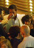 11 Aug 2009 - Brad Pitt is scene drinking and chatting with Rachel McAdams at the afterparty for 'The Time Traveler's Wife' in NYC. Photo Credit Jackson Lee