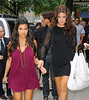 12 Aug 2009 - Pregnant Kourtney Kardashian and Khloe Kardashian head to the Wendy Williams show in NYC. The baby daddy is reported to be Scott Disick.. Photo Credit Jackson Lee