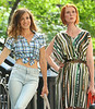 4 Sept 2009 - Sarah Jessica Parker and Cynthia Nixon on the set of 'Sex and the City 2' in NYC.  Photo Credit Jackson Lee