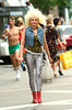9 Sept 2009 - Kim Cattrall channels the 80s on the set of 'Sex and the City 2' in NYC.  Photo Credit Jackson Lee