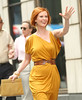 9 Sept 2009 - Cynthia Nixon on the set of 'Sex and the City 2' in NYC.  Photo Credit Jackson Lee