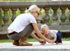 20 Sept 2009 - Naomi Watts and Liev Schreiber takes Alexander Schreiber, Samuel Kai Scheiber to play in a Soho garden in NYC.  Photo Credit Jackson Lee