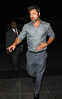 24 Sept 2009 - Brad Pitt out for dinner in NYC.  Photo Credit Jackson Lee
