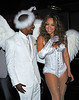 1 Nov 2009 - Nick Cannon and Mariah Carey dress up as angels for Halloween as the arrive to M2 in NYC. Photo Credit Jackson Lee