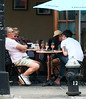 28 Sept 2009 - EXCLUSIVE: Ed Westwick and Jessica Szohr make out in front of Ed's parents at a restaurant in downtown NYC. Photo Credit Jackson Lee