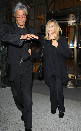 30 Sept 2009 - Barbara Streisand is all smiles as she leaves Bergdorf Goodman in NYC. Photo Credit Jackson Lee