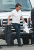 2 Oct 2009 - Tom Cruise, Katie Holmes, Suri Cruise out together on base camp of 'Wichita'. Photo Credit Jackson Lee