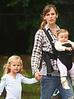 4 Oct 2009 - Ben Affleck, Jennifer Garner, Seraphina Affleck, Violet Affleck go to a park in Boston, MA.  Photo Credit Jackson Lee