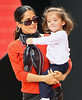 9 Oct 2009 - Salma Hayek takes baby Valentina out for a walk and play around at Lincoln Center in NYC. Photo Credit Jackson Lee