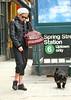 29 Oct 2009 - Sienna Miller walks her dog in Soho, NYC.  Photo Credit Jackson Lee