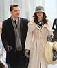 5 Nov 2009 - Ed Westwick and Leighton Meester on the set of 'Gossip Girl' in NYC.  Photo Credit Jackson Lee