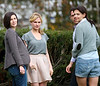 11 Nov 2009 - Katie Holmes, Anna Paquin, Jeremy Strong on the set of 'The Romantics' in Southold, Long Island, NY<br /> .  Photo Credit Jackson Lee