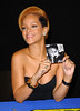 23 Nov 2009 - Rihanna signs autographs for her new CD 'Rated R' at Best Buy Union Square in NYC.  Photo Credit Jackson Lee