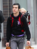 14 Dec 2009 - Pete Wentz took Bronx Mowgli Wentz to buy some Christmas gifts at Toy Tokyo in NYC without mom Ashlee Simpson.  Photo Credit Jackson Lee