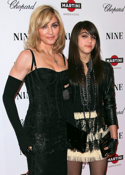 15 Dec 2009 - Madonna and Lourdes Leon at the NY Premiere of 'Nine'. Photo Credit Jackson Lee