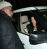 3 Feb 2010 - Danielle Staub gives a homeless man $20 after she attended a basketball game at the MSG.  Photo Credit Jackson Lee