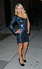 3 Feb 2010 - Paris Hilton in a dazzling blue dress at David Letterman show in NYC.  Photo Credit Jackson Lee