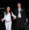 Newlyweds Bethenny Frankel and Jason Hoppy are all smiles as they depart the Four Seasons restaurant after getting married in NYC