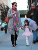 1 Apr 2010 - Katie Holmes and Suri Cruise (in a ballet outfit) goes for dinner at Le Pain Quotienden in NYC.  Photo Credit Jackson Lee