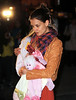 2 Apr 2010 - Katie Holmes takes Suri Cruise to Alice Tea Cup in NYC.  Photo Credit Jackson Lee