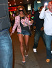 2010 April 3 -Beyonce, who's rumored to be pregnant with first child with Jay-Z, walks in short shorts back to his car after attending Broadway's 'Chicago' starring her friend and former band member Michelle Williams in NYC. Jay-Z who rarely drives his own car in the City, takes the paps for a wild chase later on running several red lights as guards swarm his car at every stop. Photo credit Jackson Lee