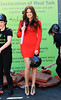 Khloe Kardashian smashes a wall with a sledgehammer at 'U by Kotex' 'Declaration of Real Talk' Campaign at Madison Square Park in NYC
