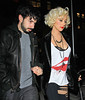 8 May 2010 - Christina Aguliera and Jordan Bratman go out for dinner date in NYC.  Photo Credit Jackson Lee