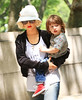 08 May 2010 - Christina Aguilera takes Max to the American Museum of Natural History on a sunny day in NYC.  Photo Credit Jackson Lee
