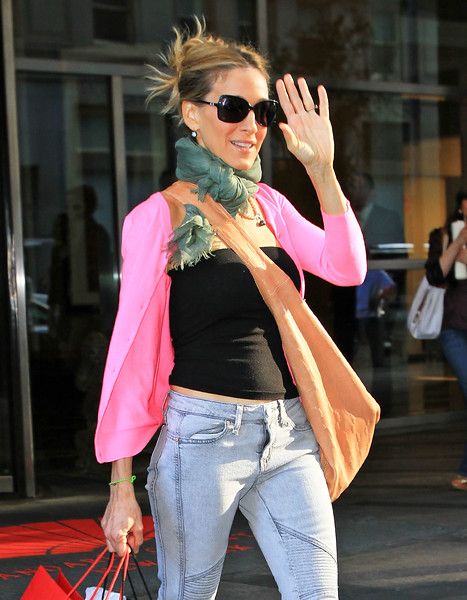 16 May 2010 - Sarah Jessica Parker at a press junket for SATC2 in NYC.  Photo Credit Jackson Lee