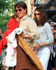 25 May 2010 - Tom Cruise, Katie Holmes, Suri Cruise head out of their home in NYC. Photo Credit Jackson Lee