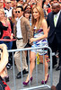 11 June 2010 - Jennifer Lopez and Marc Anthony arrive in Times Square to unveil Jennifer's Boy's and Girls club billboard in NYC.  Photo Credit Jackson Lee