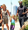 2010 June 21 - Heidi Klum, Seal, Leni, and baby Lou walk along the Hudson River in NYC. Photo credit Jackson Lee
