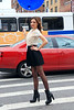 2010 June 28 - Newly-engaged Miranda Kerr turns heads in one of 5 different outfits on her photo shoot in the Meatpacking District in NYC. Photo credit Jackson Lee