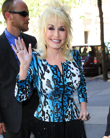 2010 June 6 - Dolly Parton arrives at ABC studios in NYC.  Photo credit Jackson Lee