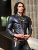 2010 July 17 - Russell Brand frees up prisoners from an NYPD precinct while dressed up as Batman along with Robin on the set of 'Arthur' in NYC.  Photo credit Jackson Lee