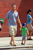 2010 Aug 4 - Liev Schreiber out with Alexander in NYC.  Photo credit Jackson Lee