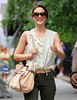 2010 Aug 16 - Leighton Meester on the set of 'Gossip Girl' in NYC.  Photo credit Jackson Lee