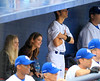 2010 Aug 23 - Ashley Greene and Joe Jonas get cosy in the dougout at a softball game in Newark, NJ.  Photo credit Jackson Lee