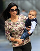 2010 Sept 9 - Kim Kardashian, Kourtney Kardashian and Mason go shopping in NYC.  Photo credit Jackson Lee