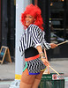 """2010 Sep 26 - Rihanna shoots her new music video """"What's My Name?"""" on the lower east side in NYC. Photo Credit Jackson Lee"""