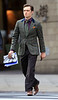 2010 Oct 18 - Ed Westwick carries a copy of the New York Times while walking to the set of 'Gossip Girl' in NYC. Photo credit Jackson Lee